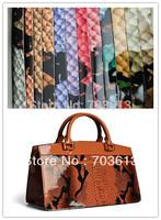 "Retail and wholesale shinny plain leather,pu snake leather,handbag leather  MOQ 1Y 1.3mm *54""+-5%  YX-2947"