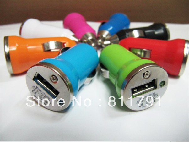 free shipping 50 pieces a lot car cigarette lighter for iphone iphone 3G iphone 3GS ipod iphone4 4s USB MINI Car Charger(China (Mainland))