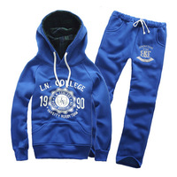 free shipping mens hoodies,sweatshirt sports set lovers sweatshirt health pants navy blue p60