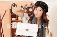 2013 Hot sale PU leather bags spring and summer fashion classic van in chili plaid chain bag shoulder bag free shipping