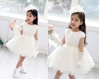 50% OFF!! 2014 new girl's princess wedding dress female Children's one-piece dress baby girl new year party ball flower dress
