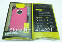 20pcs New arrival TPE+silicon  CASE for iPhone 5 5g,  with belt clip & retail box,free dhl shipping