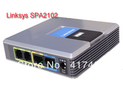LINKSYS Spa2102 VoIP Gateway Voice Adapter Phone Router Unlocke ,Free shipping with a tracking number(China (Mainland))