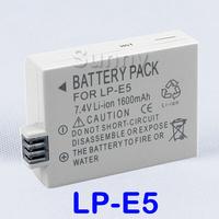 LP-E5,LP E5 Battery Pack For Canon EOS Rebel  T1i, XS,  XSi and EOS 450D,  500D,  1000D, Kiss X3, X2, Kiss F  Digital SLR Camera