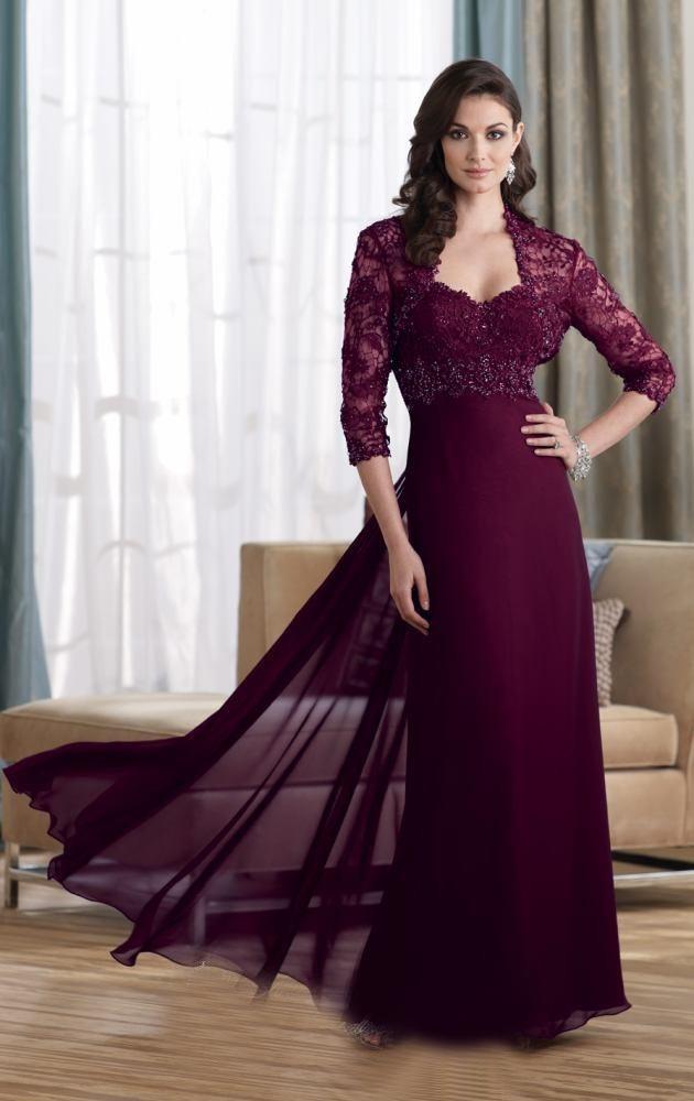 Vestido new top fashion natural sheath vestido de renda for Formal wedding dresses for mother of the bride