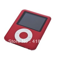 "DHL   8GB 3th Generation 1.8"" Portable digital MP3 MP4 players Video MP3 Player FM with games  only mp3 20pcs free shipping"