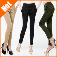 new 2013 black candy color women sexy harem pants plus size casual long skinny trousers