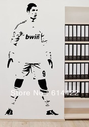 CHRISTIANO RONALDO REAL MADRID LA LIGA WALL ART STICKER DECAL FOOTBALL PLAYER qt025(China (Mainland))