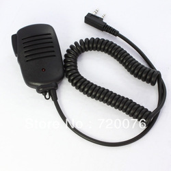 2 PIN wholesale&amp; Handheld PTT Speaker Mic Microphone FOR KENWOOD Radios 11mm With Red Light free shipping(China (Mainland))