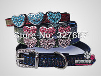 Dog Collar 10mm Personalized Letter Charm Collar Puppy Dog Collar Free shipping Wholesale  MOQ 12pcs/lot Pink Red Black Blue