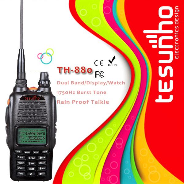Livraison gratuite TESUNHO deux WAY RADIO TH-880 CE FCC ROHS chargeur de voiture gratuit + combiné micro(China (Mainland))