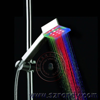 LD8008-A4 Multi-color fast flashing LED Square Shower Head and Bathroom Sprinkler Head,drop shipping is available
