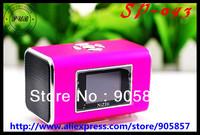 NiZhi TT6 Portable mini speaker support  USB U-Disk/TF/Micro SD card/ Computer MP3 speaker with Screen,free shipping