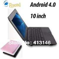 Fast Shipping 10inch Android 4.0 Via8850 processor 1.5GHz Mini Laptop 512MB+4GB Wifi Student laptop Netbook