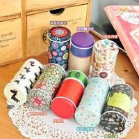 Portable mini cylindrical storage tin, 7 models, random delivery, wholesale 140002
