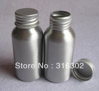 Free Shipping 12 x 50ml Cosmetic Aluminum Bottle, Cosmetic Storage Packaging Container, Metal Bottle