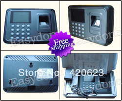 "Free shipping 2.4"" Color TFT Fingerprint Time Attendance Machine Easy to Install(China (Mainland))"
