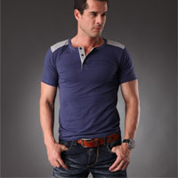 Mens fashion t shirts online!2013 newest brand men t-shirts styles men fashion t-shirt 7 Colors,M,L,XL,XXL,XXXL Free Shipping