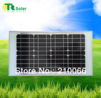 solar panels 20W High quality  Monocrystalline silicon for 17.5V battery charging, Class A quality solar panel