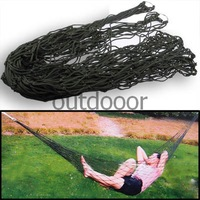Portable Camping Outdoor Mesh 250cm Length Nylon Hammock - Army Green Free Shipping