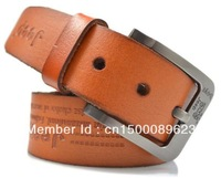 New arrival Top quality casual fashion Male brand strap brushed buckle men genuine leather  belt