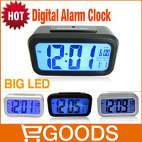 Free Shipping Alarm Clock!! Super HD lie-ins LED Electronic clock Wise bell bell Alarm Clock AAA Battery Clock Dropshipping