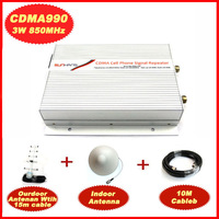 1Set SUNHANS 3W-CDMA990 Mobile Signal Booster 850MHz 3W (40dBm) Coverage 5000 sq.m.CDMA Repeater with 10m Cable and Antenna