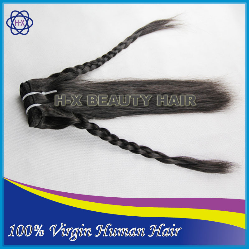 "unprocessed virgin peruvian hair natural straight natural color diamond hair extension 12""-36"" fast delivery(China (Mainland))"