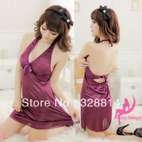 Sexy uniforms photohydrophlicity miki lace sexy sleepwear purple 6069