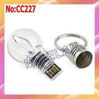 Free shipping wholesale bulb style USB Flash Drive 1GB 2GB 4GB 8GB 16GB 32GB 64GB 2 color light USB Flash Disk #CC227