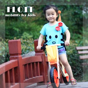 Wooden Children Toy Bike Model Baby Stroller Outdoor Pulley Kids Bike