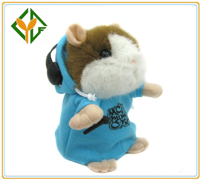 Free Shipping Dropshipping Repeat Electronic Toy Talking Hamster MC DJ Rapper Best Gifts for Kids 6 pcs a lot(China (Mainland))