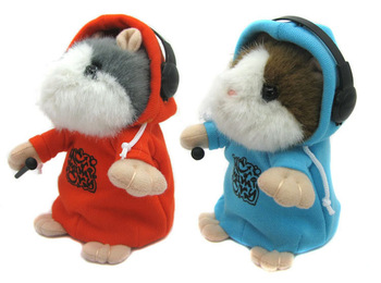 Pet Early Learning Wear Clothes Hamster Talking Toy for Kids Repeat Talking Hamster Toy,wholesale Price!