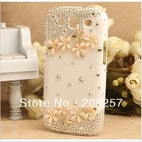 for samsung galaxy s3 case The case for  samsung i9300 wildflowers rhinestone cell phone shell case,freem shipping