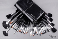 32 PCS Professional Cosmetic Foundation Make Up Brush Facial Makeup Brush tools Set Kit for women wood handle +fur case
