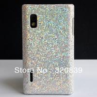 5 Colors Bling Glitter HARD SKIN COVER CASE FOR LG Optimus L5 E610 E612 + LCD SCREEN