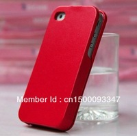 1pcs Free shipping High quality PU Leather Flip Case Cover For iPhone4 4G 4S,mobile phone case