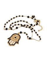 Fashion Jewelry of fatima hamsa hand necklace