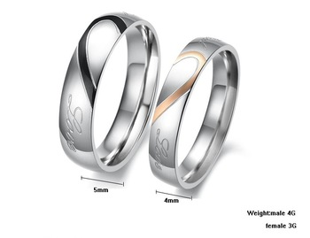 OPK JEWELRY  lover's gift stainless steel couple finger rings Titanium Ring