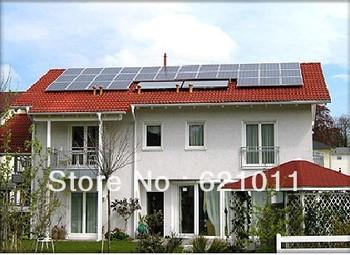 5kw solar system, on-off grid home solar energy system includes solar panel and on-off grid inverter