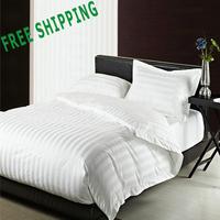 Free Shipping 100% Cotton 4 PCS Bedding Set  Hotel Linen Duvet Cover Set Sheet Set Pillowcover Set