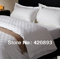 Free Shipping  60S 100% Cotton Jacquard Bed Linen 4 PCS Beddin Bed Sheet Set Duvet Cover Set Pillow Set