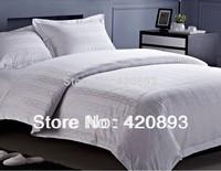 Free Shipping 100% Cotton Jacquard 4PCS Bedding Set Hotel Bedding Custom-made Wholesale