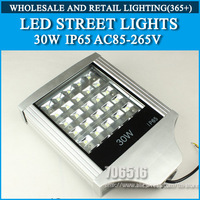 30W LED Street Lights IP65 Epistar Warm white/cold white AC85-265V Free shipping