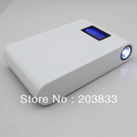 11200mAh Universal Backup USB Battery Power Bank External Battery Pack Charger with flashlight +8*adaptor+1*usb cable