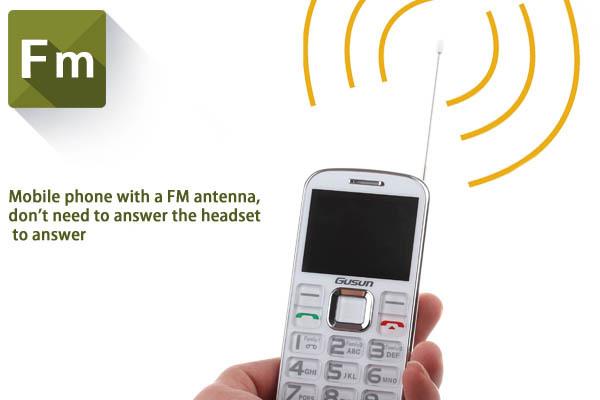 Brand New Gusun F10 Ultra-thin Old man Mobile Phone 2030 BOX Loud Speaker With FM Antenna Flashlight 2000 mAh Battery-White(China (Mainland))