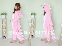 Lovely Pink Dinosaur Fashion New Japan Kawaii Cute Animal Pajamas Costume Cosplay Cute Adult Unisex Wholesale Sleepsuit