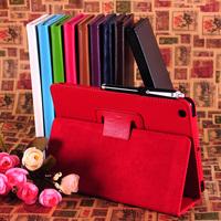 2015 Hot Sale New Design For IPad Mini Case Magnetic PU Leather Folio Stand Case Cover Sleep Wake