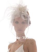 Free shipping!New Bridal  Veil, Party Headdress, Fascinator Feather veil ,Wedding Accessory vintage ornament