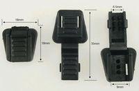 Free Shipping (100pcs) Plastic 550lb Paracord Zipper Pulls Ends Knife Cord Lanyard Clips Bag Accessories 18x18x9mm Black